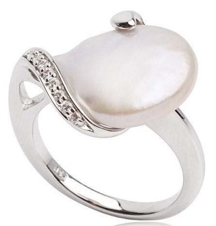 кольцо с жемчугом кеши