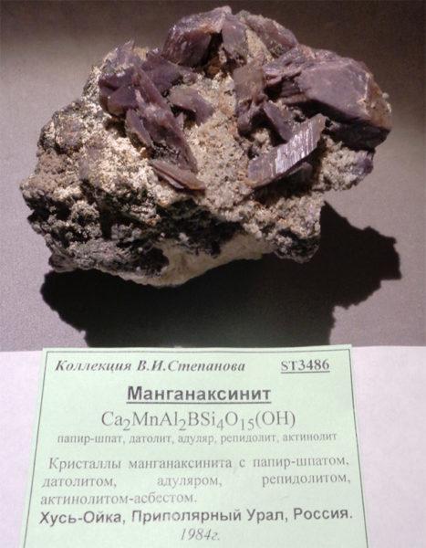 Манганаксинит