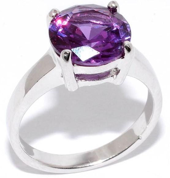 кольцо с природным александритом
