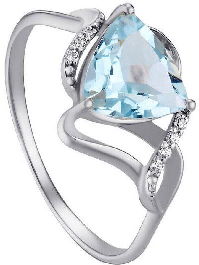кольцо с топазом из белого золота